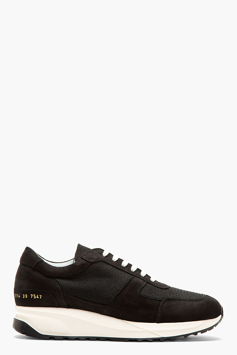 Common Projects Black Track Running Shoes for men | SSENSE ...