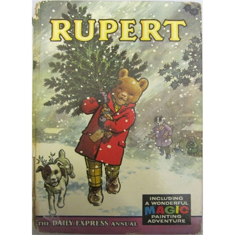 Oxfam Christmas Trees: Hardback Book With Glazed Boards. Front Cover Shows Rupert