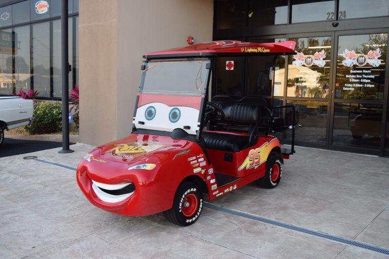 Cars To Own Lightning Mcqueen Golf Cart Custom Street
