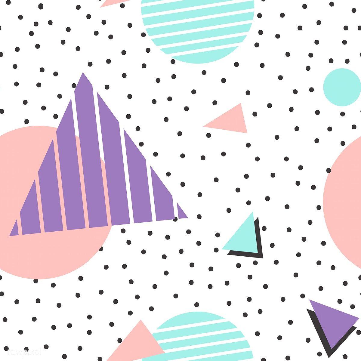 Motif Menphis Gratuit Colorful Geometric Memphis Style