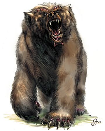 Dire Bear Dnd Dire Bear Bear Art Cave Bear