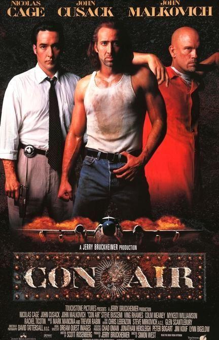 Con Air 1997 Air Movie Con Air Movie Posters