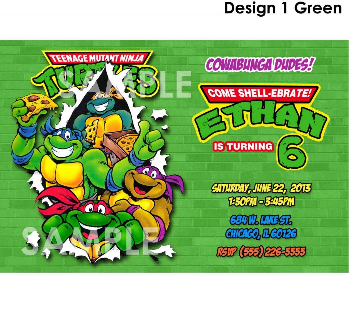 23 Amazing Ninja Turtle Invitations For Kids | Invitations Ideas ...