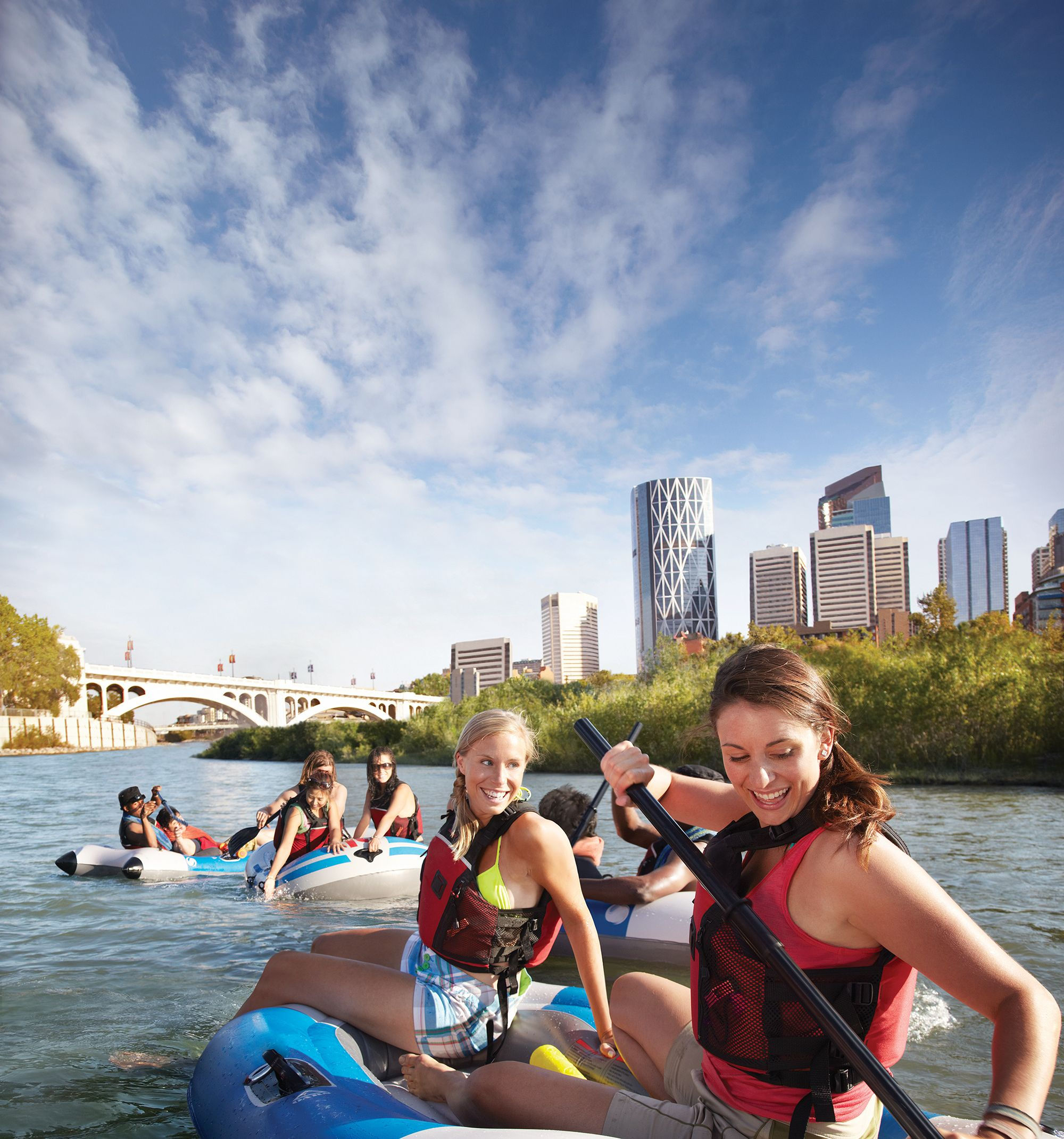 Floating down the Bow River Calgary, 100 things to do