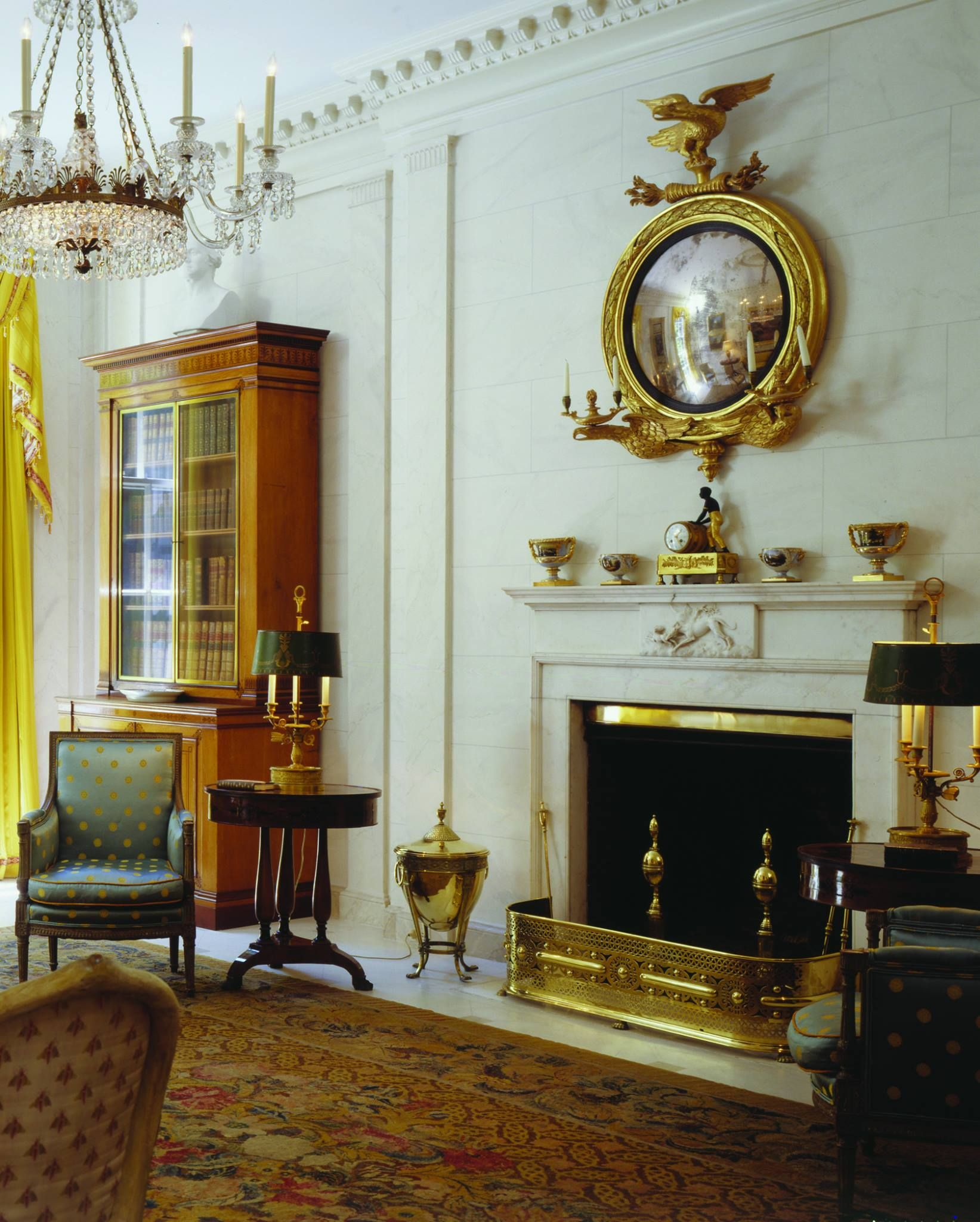 Classic american home interior drawing room in white george f baker house park avenue u rd