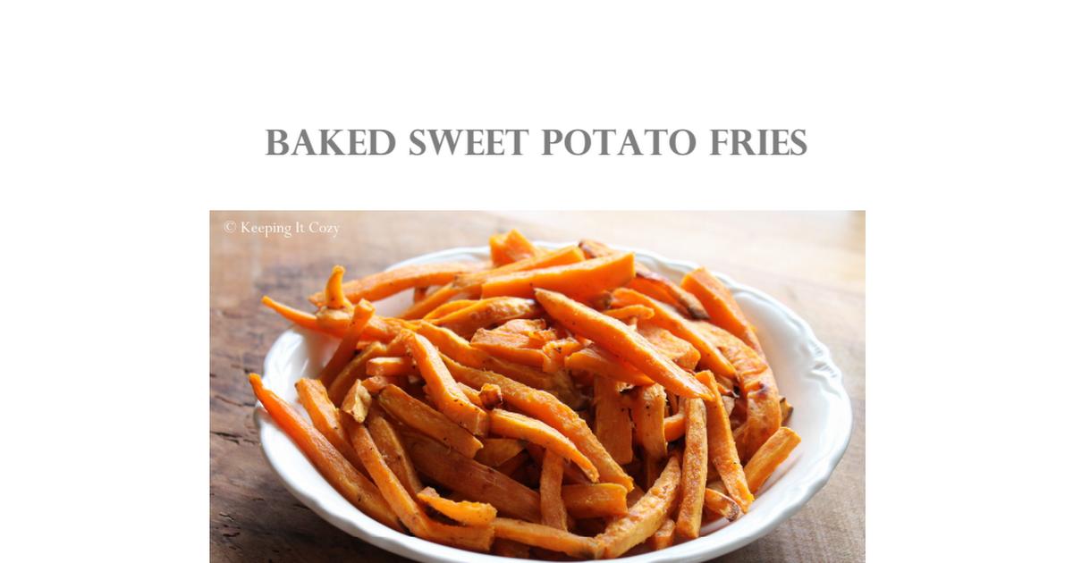 Baked sweet potato fries recipepdf sauces pinterest baked baked sweet potato fries recipepdf forumfinder Gallery
