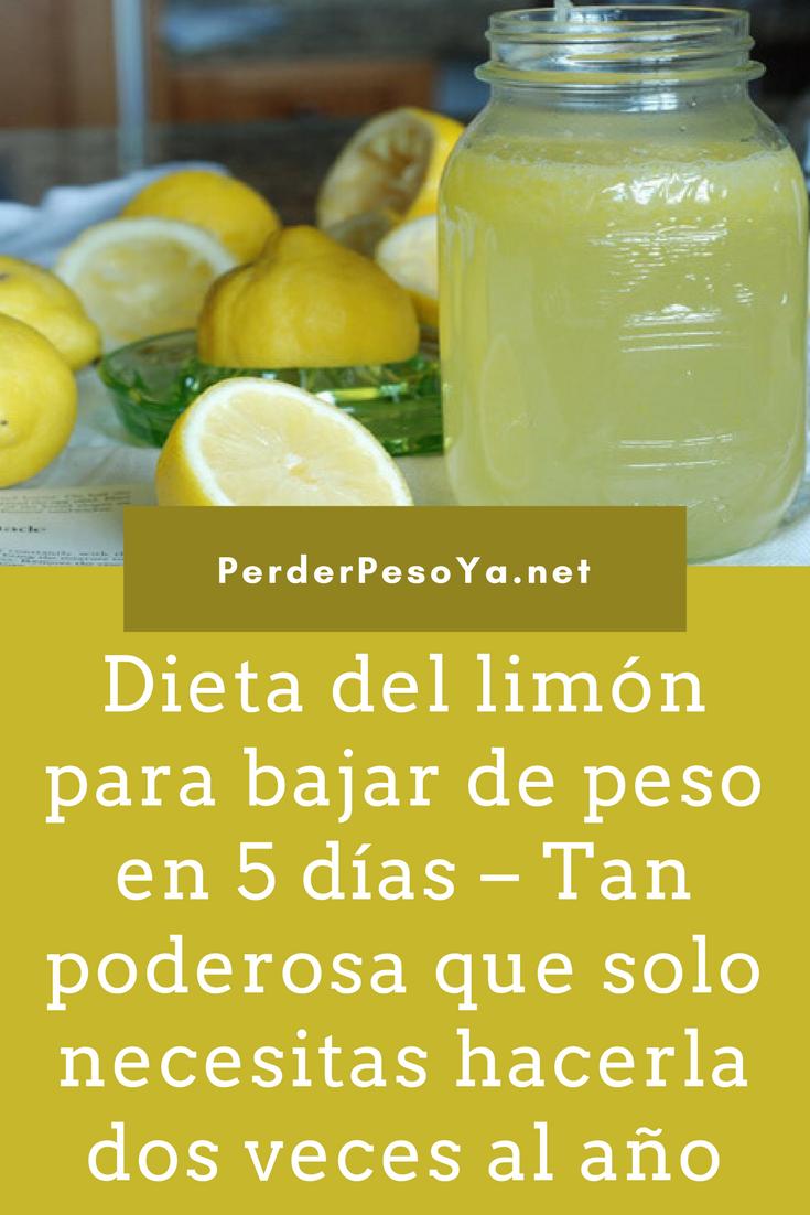 Limon dieta peso perder del para
