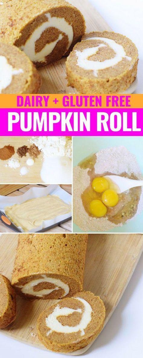 Dairy Free Pumpkin Roll Yummy Eats Dairy Free Baking Gluten