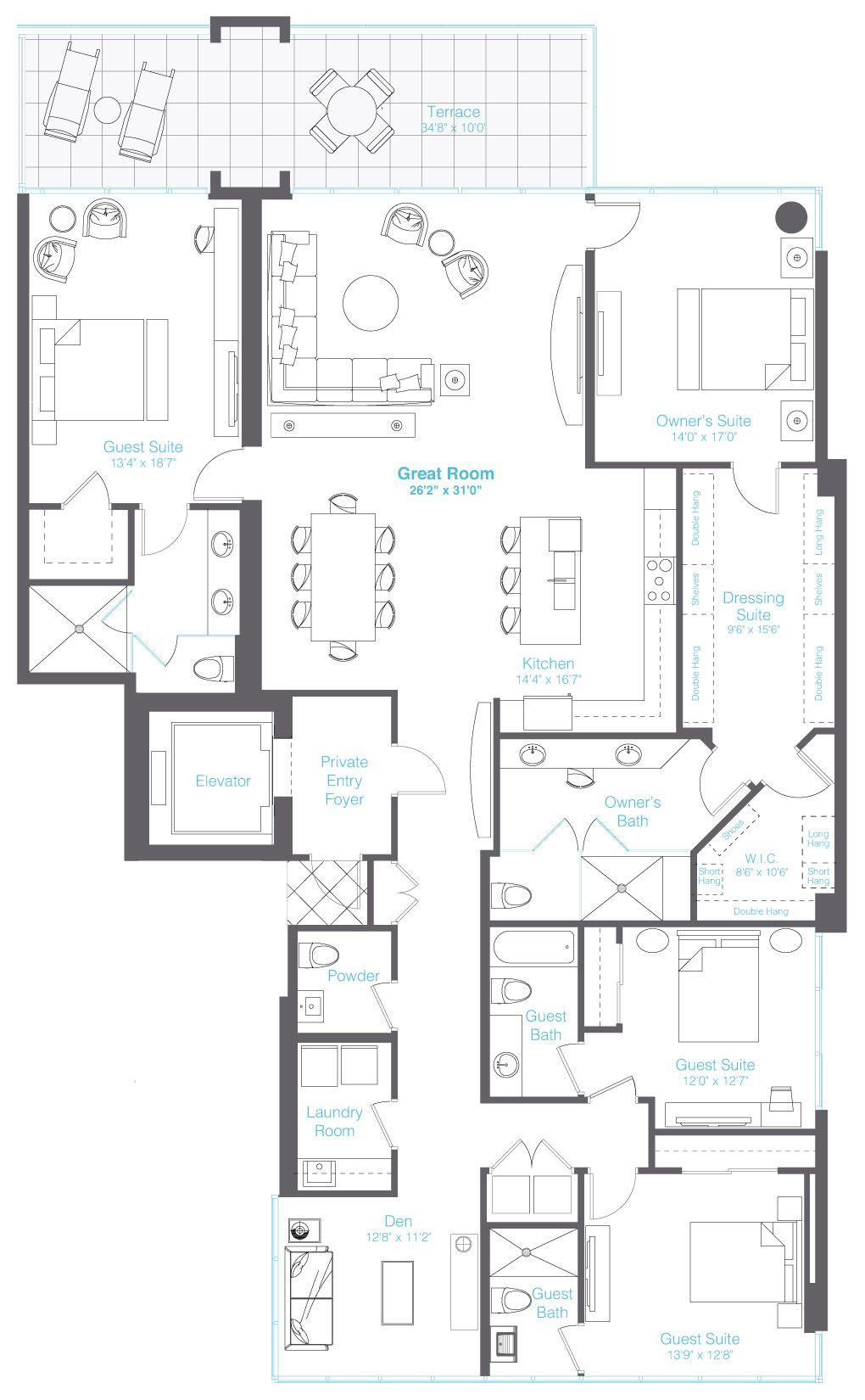 Downtown Sarasota Condos For Sale At Vue Condo Floor Plans Apartment Floor Plans Luxury Floor Plans