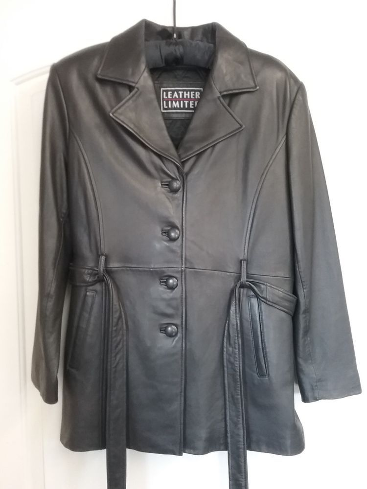 98a19c66bb Ladies Wilsons Leather Size L Black Leather Coat Jacket  fashion  clothing   shoes  accessories  womensclothing  coatsjacketsvests (ebay link)