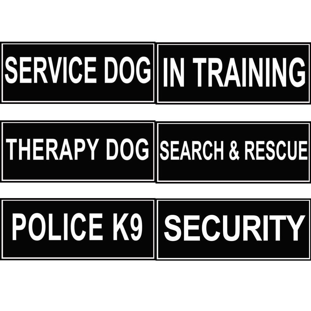 Extra Velcro Patch Dog Harness Label Tags Service Dog Working Id