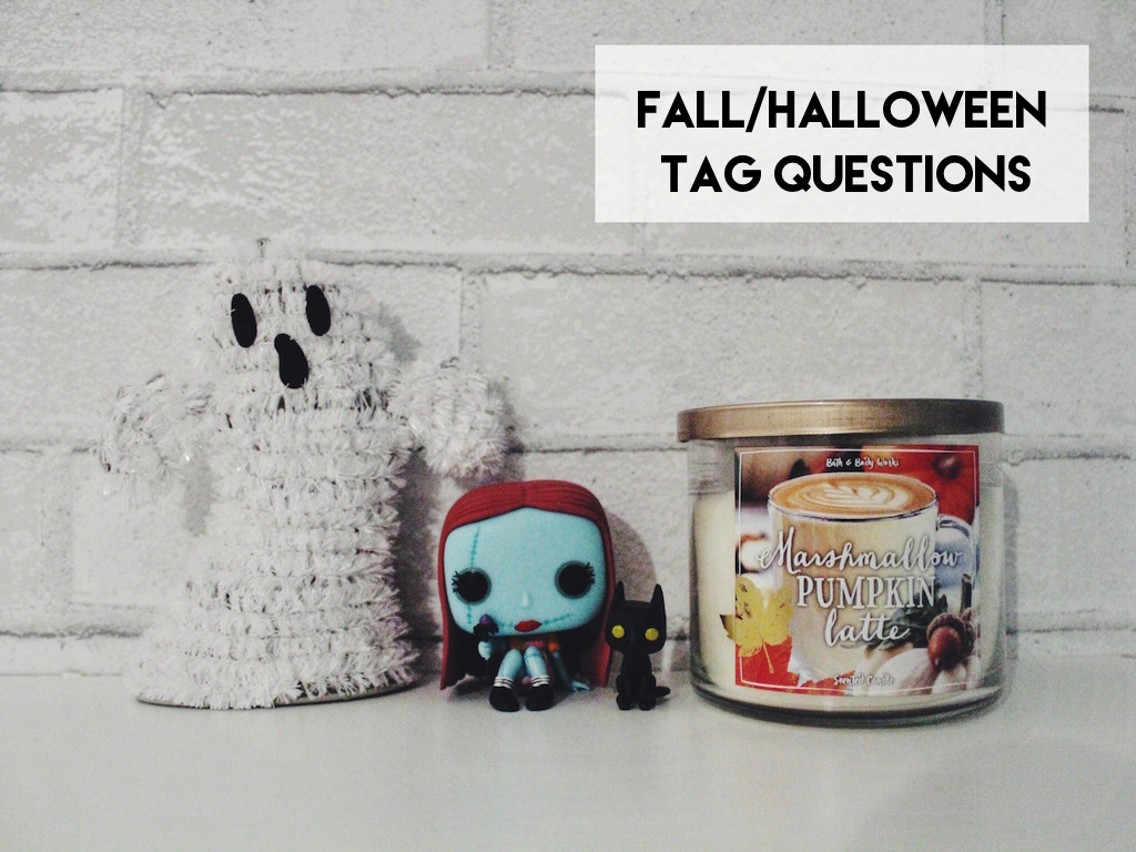 I had such a blast doing the Disney Tag last year and since Halloween is coming up, I thought it would be fun to do a Halloween/Fall tag (meaning some of these questions are fall related and some are Halloween related)! I always have so much fun reading these kinds of posts and watching Youtube …