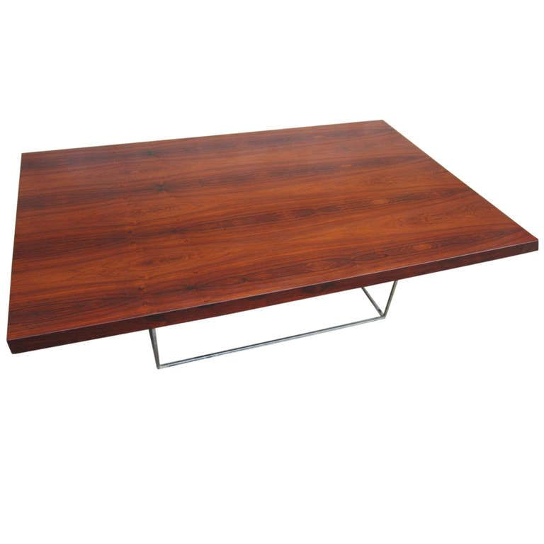 Beautiful rosewood coffee table designed by milo baughman