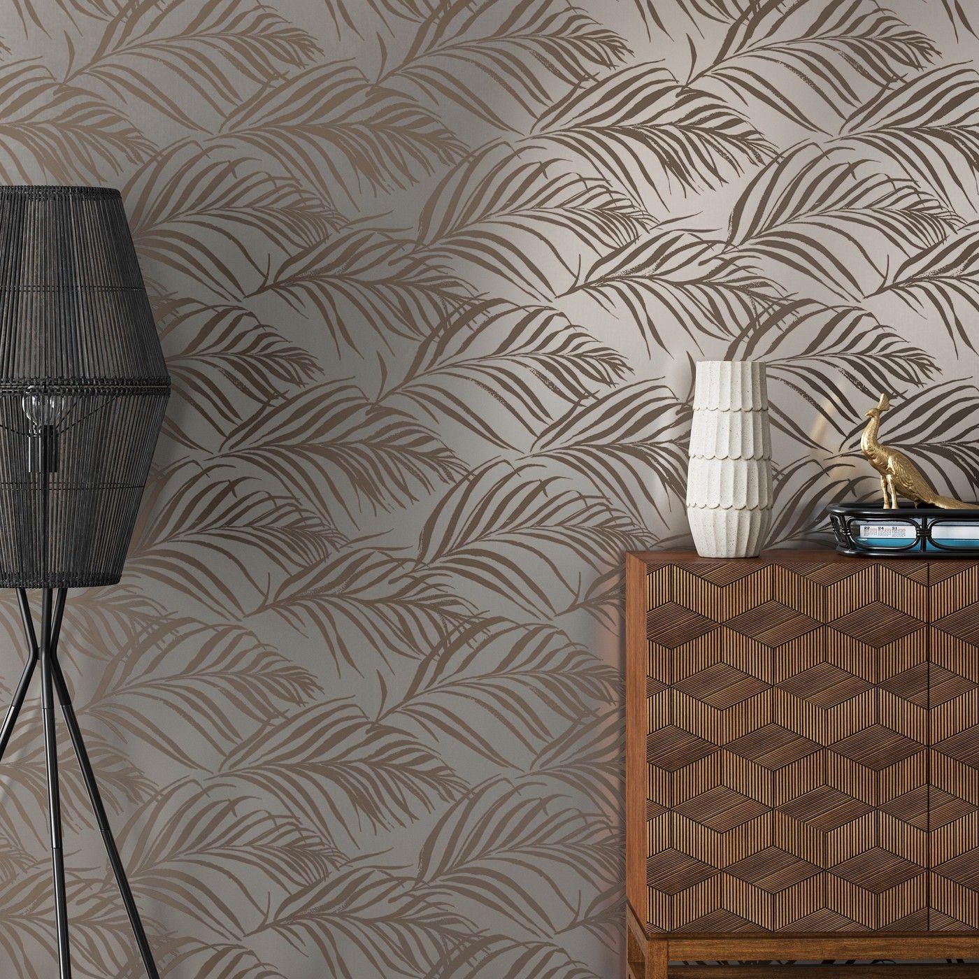 Metallic Palma Peel Stick Wallpaper Silver Opalhouse Peel And Stick Wallpaper Palm Print Wallpaper Traditional Wallpaper