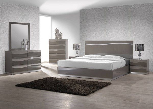 Delhi Modern Gloss Grey Master Bedroom Set Bedroom Set Designs