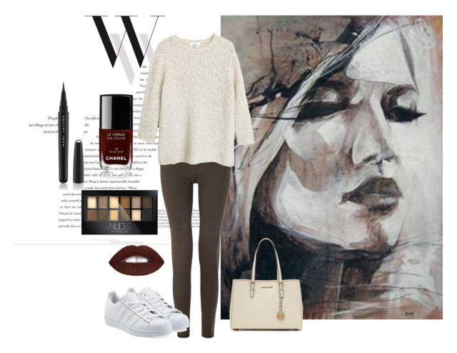 """""""Untitled #84"""" by gintarytee on Polyvore featuring Balenciaga, Jigsaw, adidas Originals, MICHAEL Michael Kors, MANGO, Maybelline, Chanel, Marc Jacobs, women's clothing and women's fashion"""