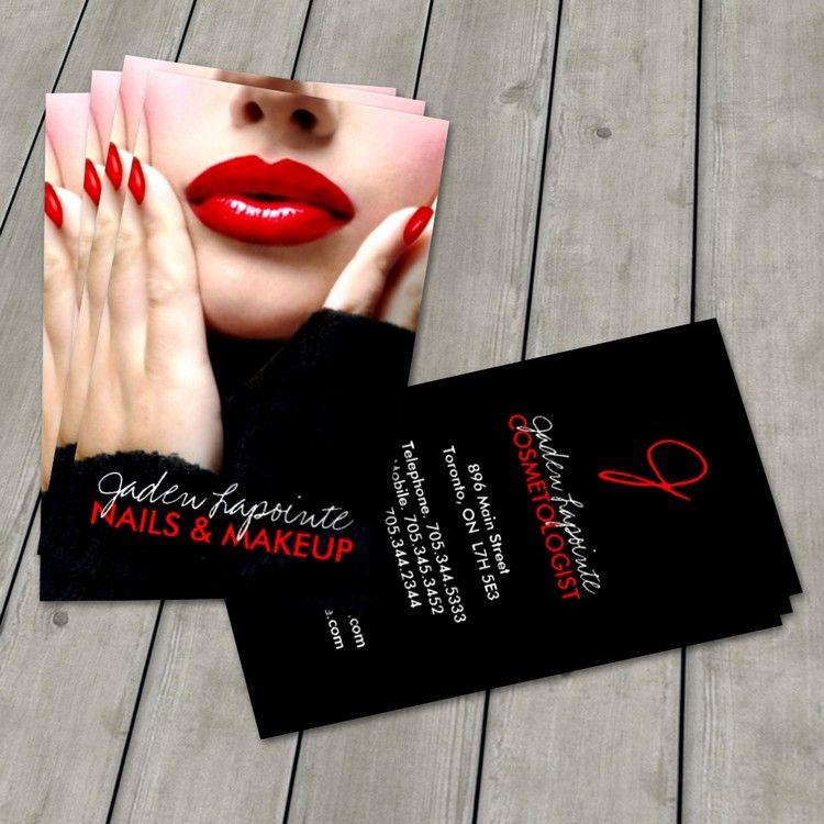 Cosmetologist Business Card Template | Makeup artist business ...