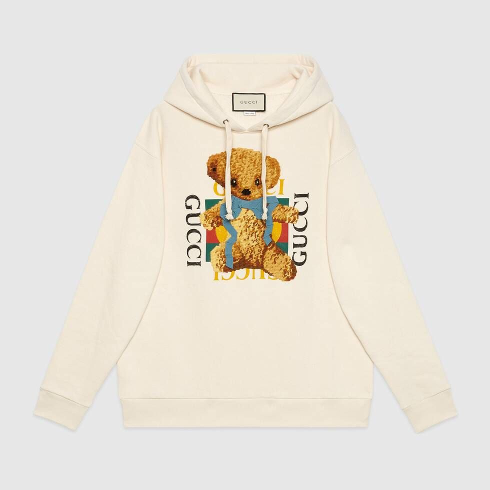 501ff60d29 Gucci Oversize sweatshirt with logo and teddy bear in 2019 ...