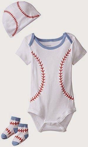 554b42122 Lovespun Baby-Boys Newborn Baseball 3 Piece Creeper Hat and Sock ...