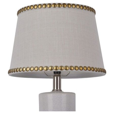 Nailhead Trim Lamp Shade Cream Threshold Antique Lamp Shades Small Lamp Shades Large Lamp Shade