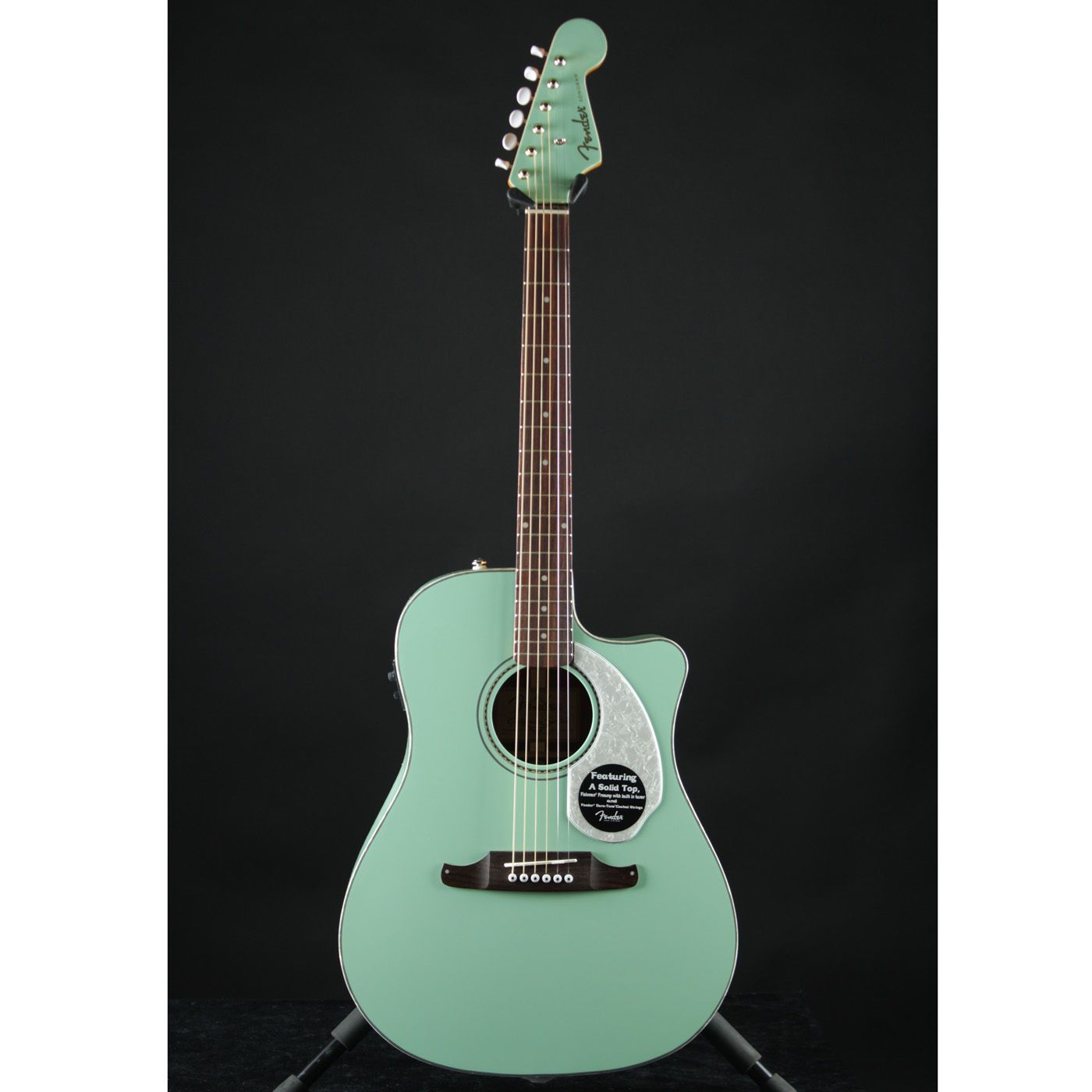 fender sonoran sce surf green acoustic electric guitar brand new mint madness tiffany blue. Black Bedroom Furniture Sets. Home Design Ideas