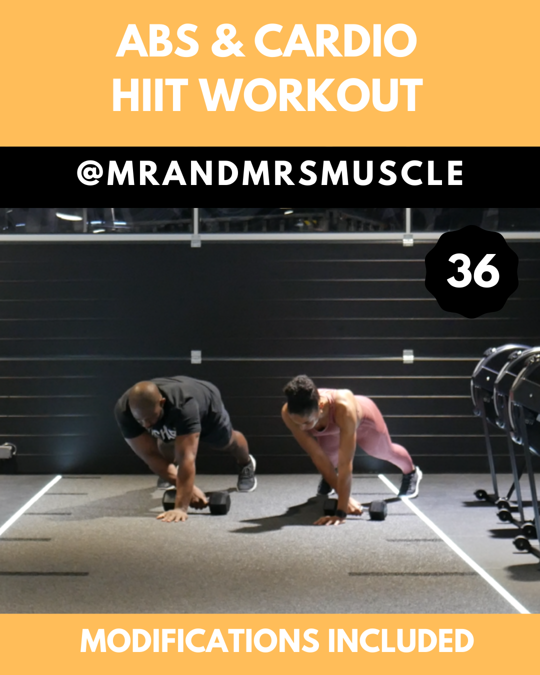 Core plank workout with weights. No equipment needed, includes beginners and advanced exercise. #cor...
