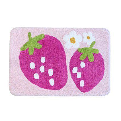 Strawberry Pattern Non Slip Bath Rug Floor Mats Kitchen Doormats