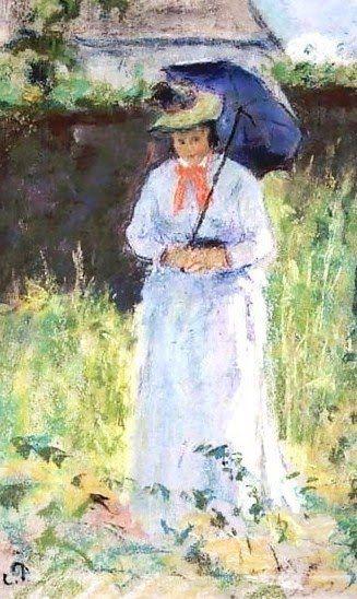 Parasol - Camille Pissarro (1830-1903). Woman with a Parasol