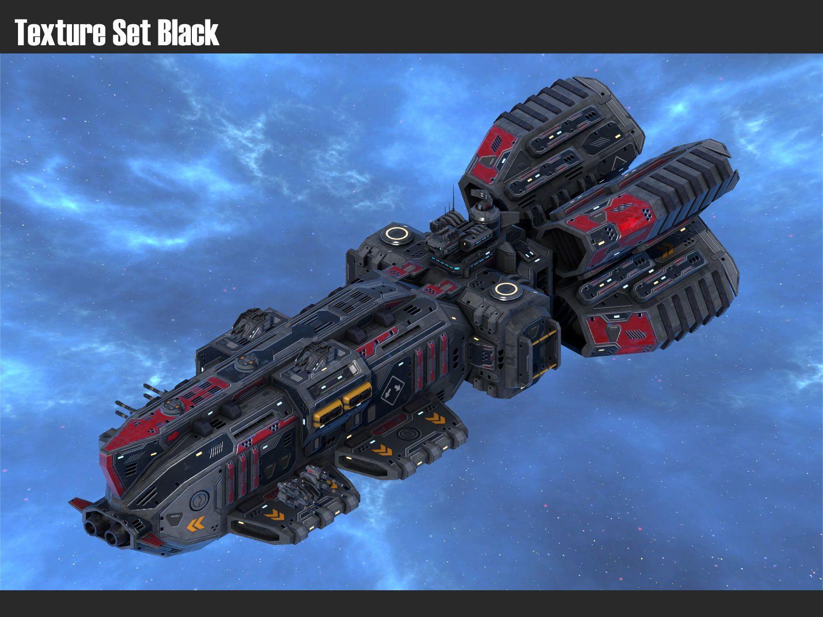 Spaceship Frigate Hammerhead 3d Model Spaceship Design