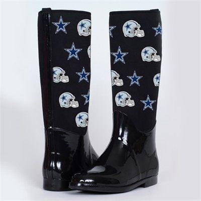 80502be15 Cuce Shoes Dallas Cowboys Women s Enthusiast II Rain Boots - Black  Fanatics