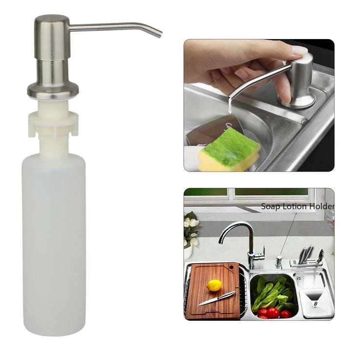 300ml Stainless Steel Kitchen Sink Soap Pump Bottle Soap Dispenser Kitchen Sink Kitchen Soap Dispenser Stainless Steel Kitchen Sink