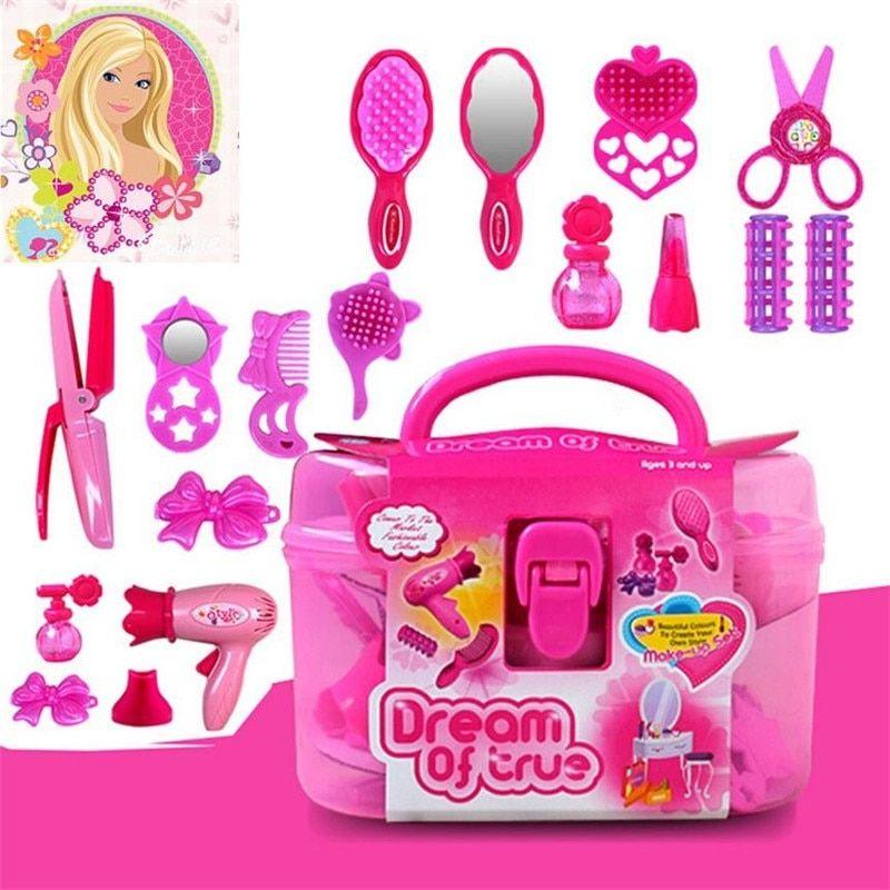 Little Cosmetics Kit Pretend Play Toys Makeup Set Kids Baby Girls Preschool Kid Beauty Fashion Toys Game Beauty Kids Makeup Toys Fashion Toys