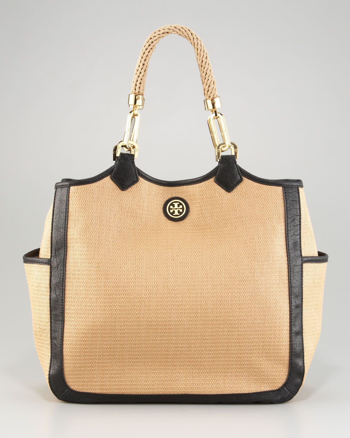 Tory Burch Channing Straw Tote Accessories