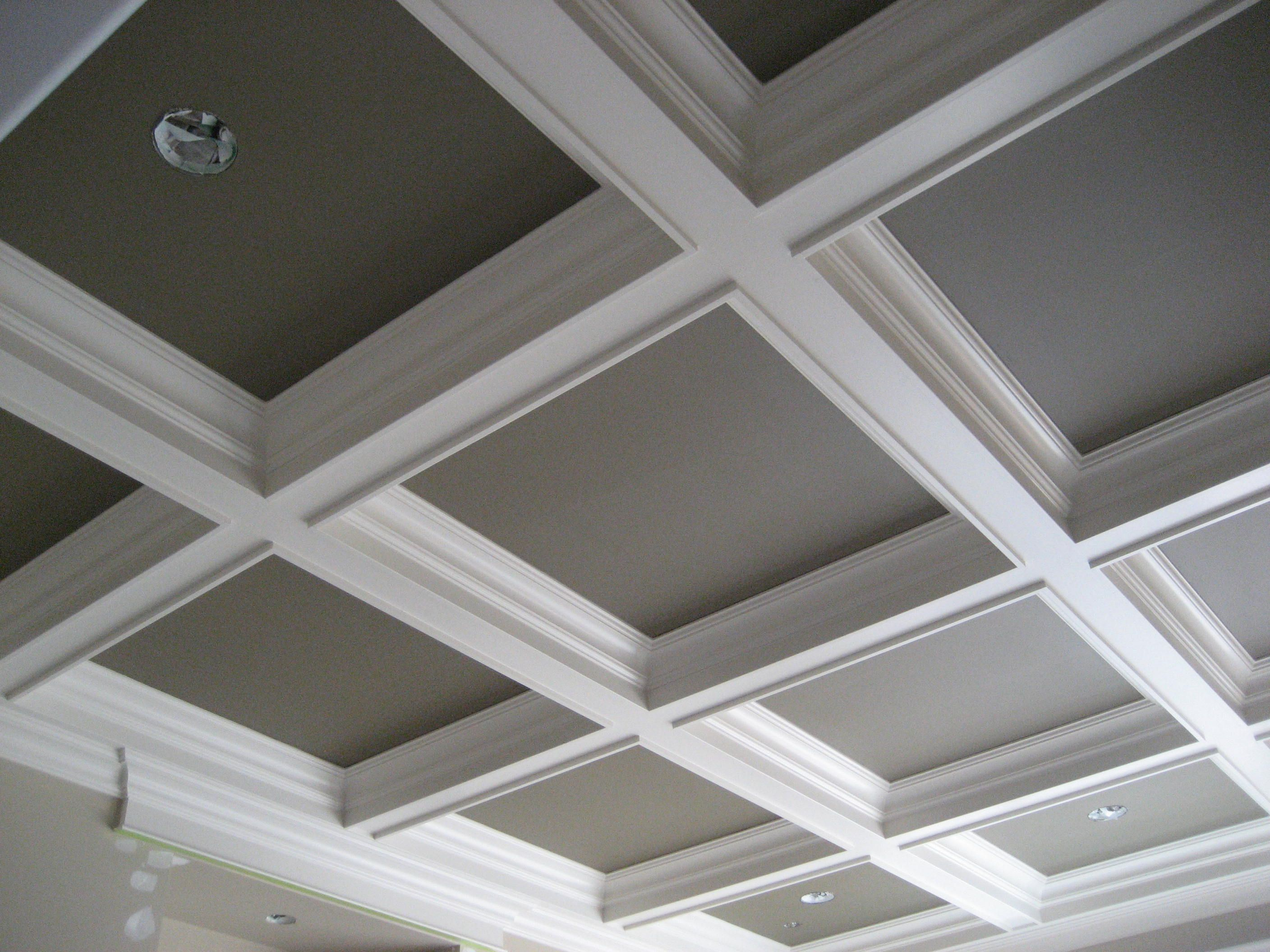 Ceiling ideas on pinterest tray ceilings ceilings and for Coffered ceiling styles