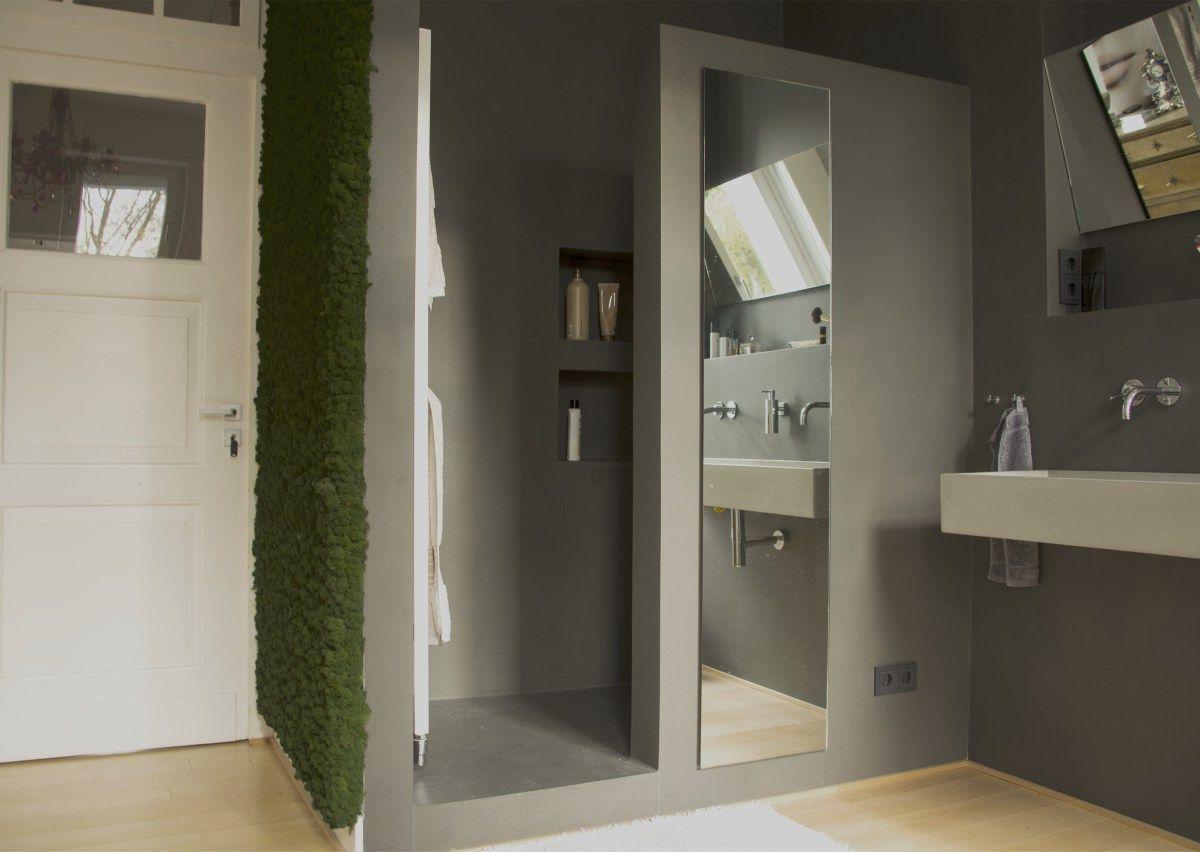 dusche in wasserfestem putz in betonoptik | bathroom bliss in 2018