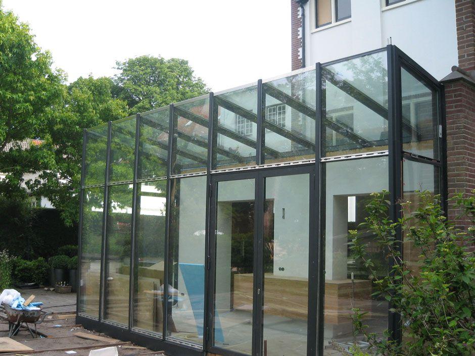 Glazen aanbouw aanbouwen uitbreidingen pinterest for Glazen uitbouw