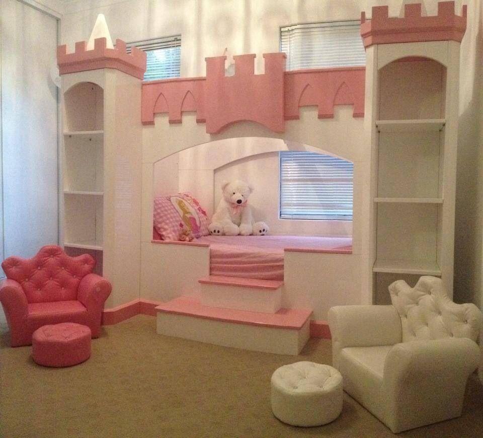 Luisa' Princess Castle Bed Custom Built Spoil'em #princessbed #castlebed