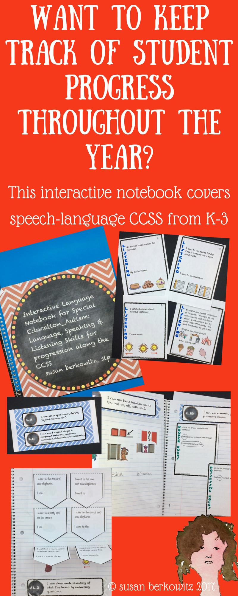 Interactive Language Notebook Special Ed Speech