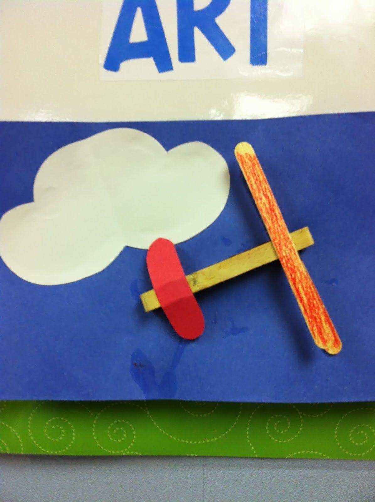 Preschool Art Clothespin Airplanes