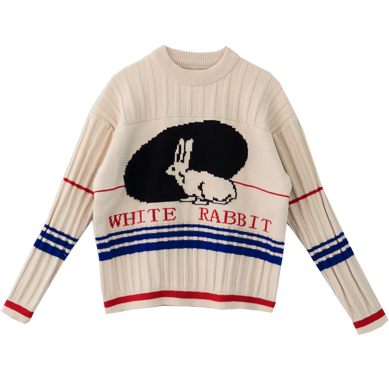 White Rabbit Candy Jumper Aesthetic Clothes Cool Sweaters Cute Outfits
