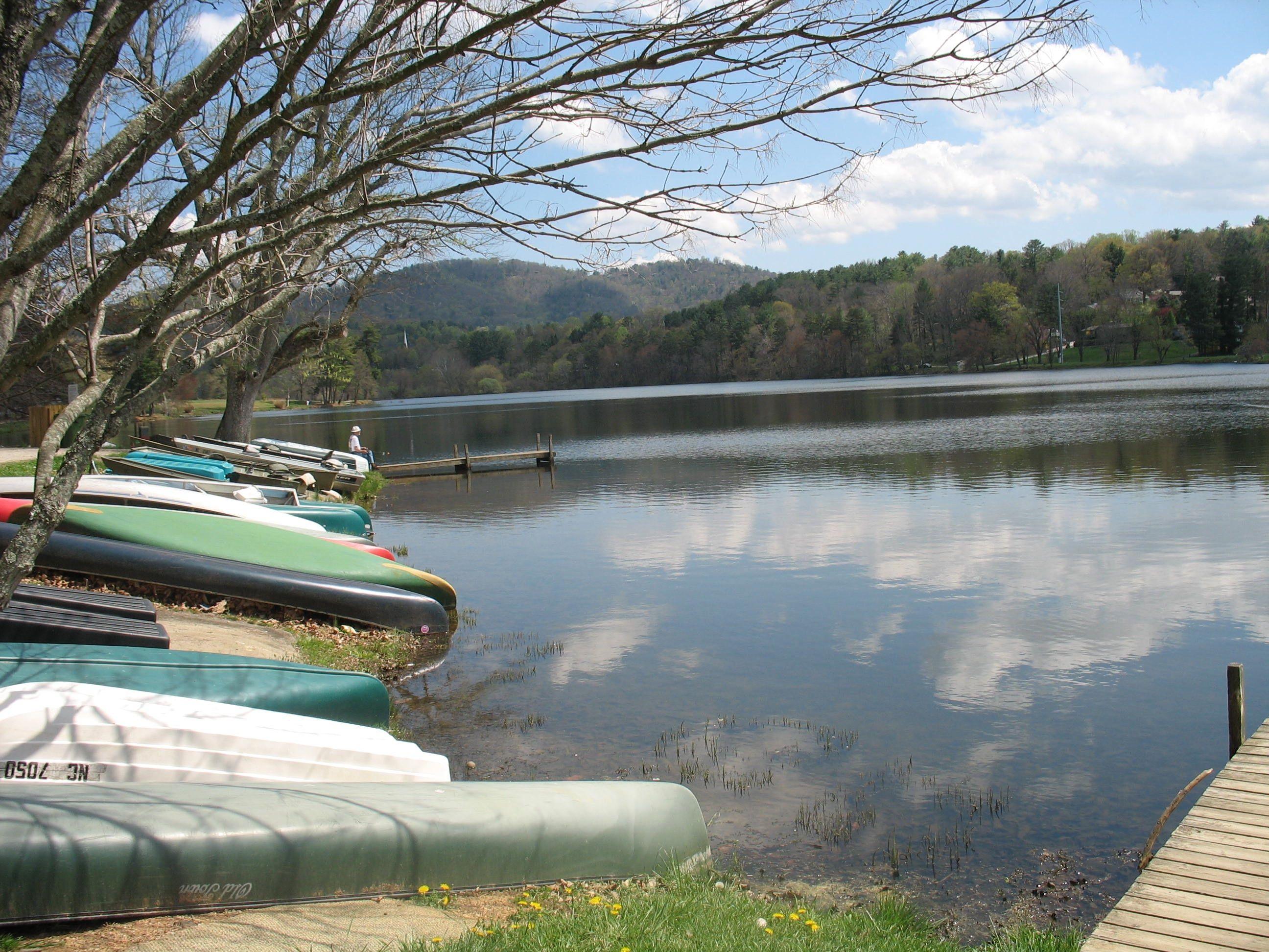 Beaver Dam Lake, Asheville NC    where Dad tried out his handmade