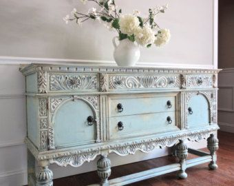 vintage hand painted french country cottage chic shabby distressed weathered turquoise teal. Black Bedroom Furniture Sets. Home Design Ideas
