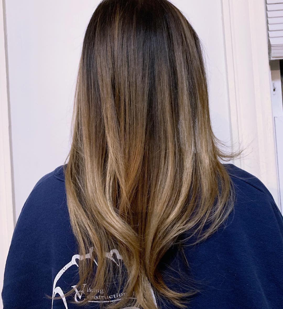 Soft Blend High Contrast Brown Blonde Balayage Lightened Using Schwarzkopf Blondme Lightener Toned W Brown To Blonde Balayage Brown To Blonde Blonde Balayage