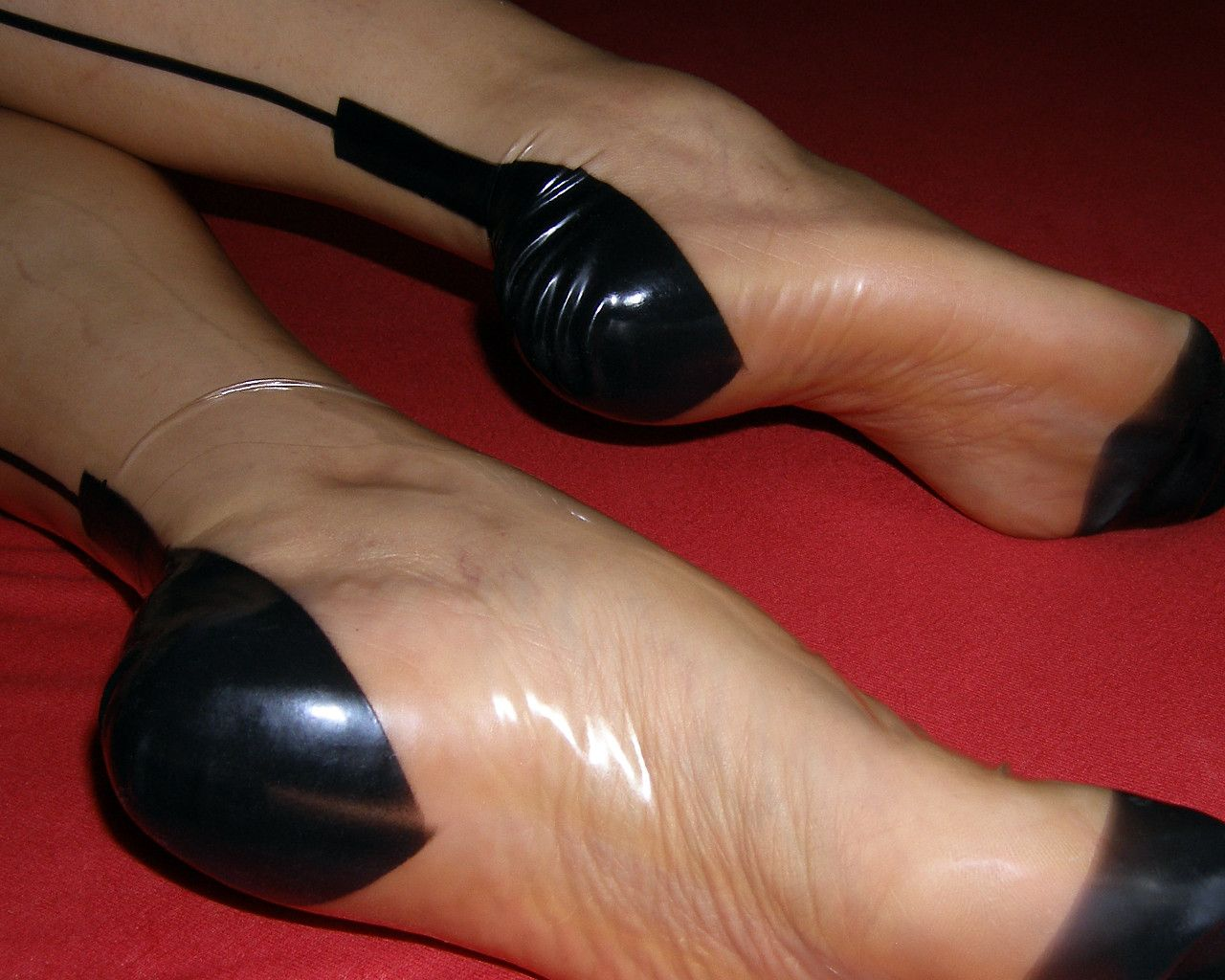 Leather foot fetish-5672