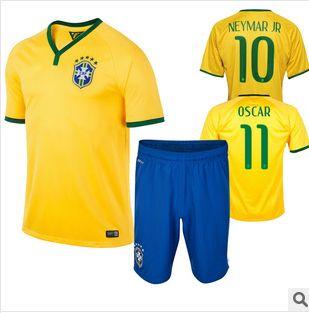 New 2014 Brazil summer soccer training suit short-sleeved dress shirt suit  soccer shirt sports men clothing football jersey