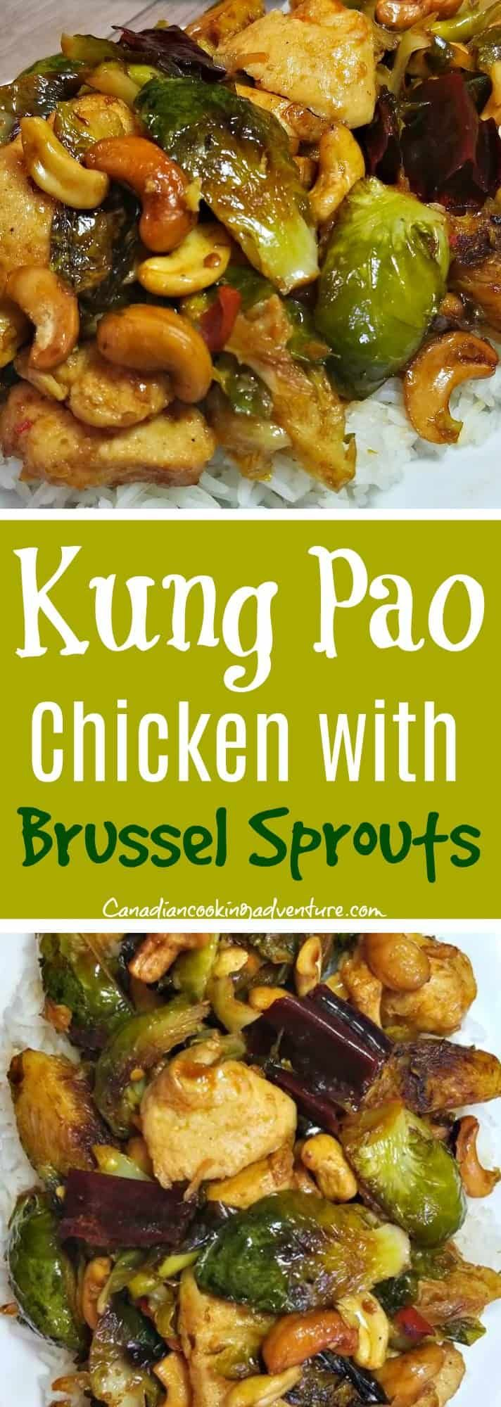 kung pao chicken with brussel sprouts  chicken brussel