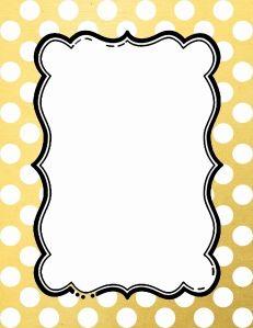 gold polka dot border 15 colors available free instant download rh pinterest com polka dot frame clip art free