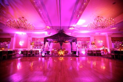 Ballroom At The Garden City Hotel Set Up For A Wedding And Ready