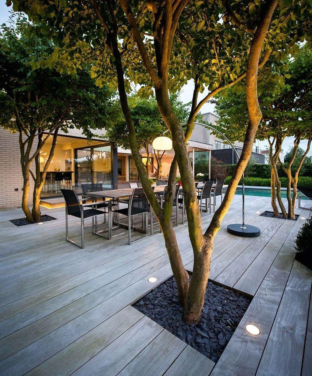 38 Relaxing Terrace Garden Design Ideas With Lighting -   13 garden design Inspiration indoor herbs ideas