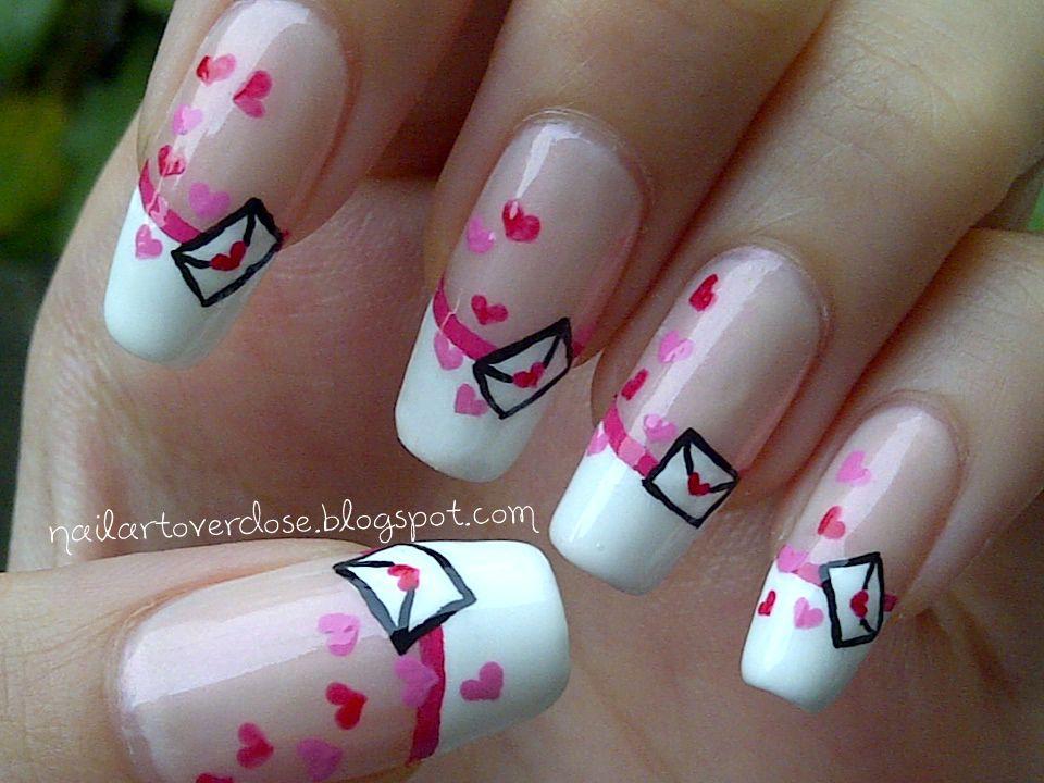 Nail Art Overdose: Valentine Nail Art Challenge Day 4: Love Letters ...
